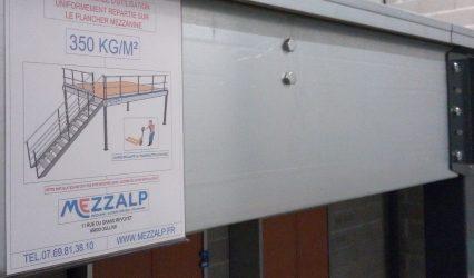 PLAQUE DE CHARGE CONSTRUCTEUR MEZZANINE MEZZALP RHONE ALPES
